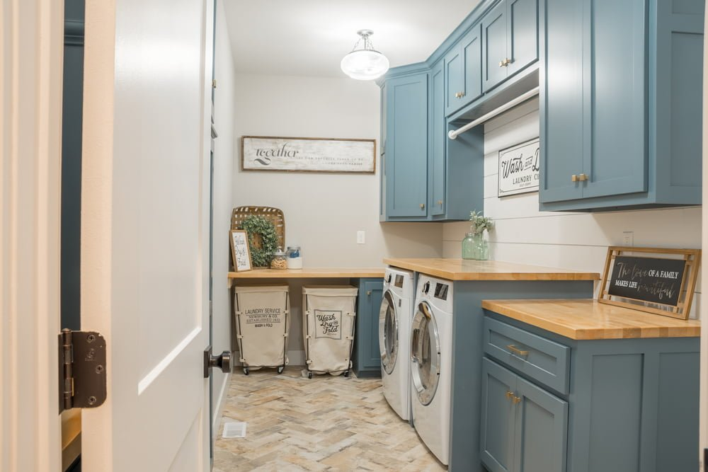 Cabinets and Other Laundry Room Storage Themes